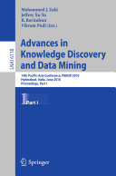 Advances in Knowledge Discovery and Data Mining  Part I