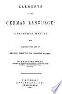 Elements of the German Language     Book PDF