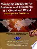 Managing Education for Business and Commerce in a Globalized World