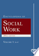 The Encyclopedia of Social Work  : 4 Volume Set