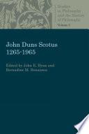 John Duns Scotus 1265 1965