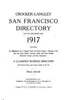 Pdf Crocker-Langley San Francisco Directory