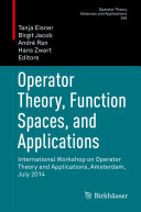 Operator Theory, Function Spaces, and Applications [Pdf/ePub] eBook
