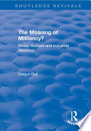 The Meaning of Militancy?