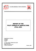 Report Of The Pilot Census Of Agriculture Pca 2003