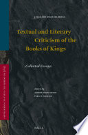 Textual and Literary Criticism of the Books of Kings