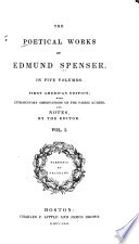 Essay On The Life And Writings Of Edmund Spenser