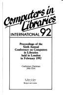 Computers In Libraries International 92