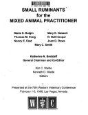 Small Ruminants For The Mixed Animal Practitioner Book PDF