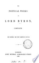 The poetical works of lord Byron  complete   Pearl ed