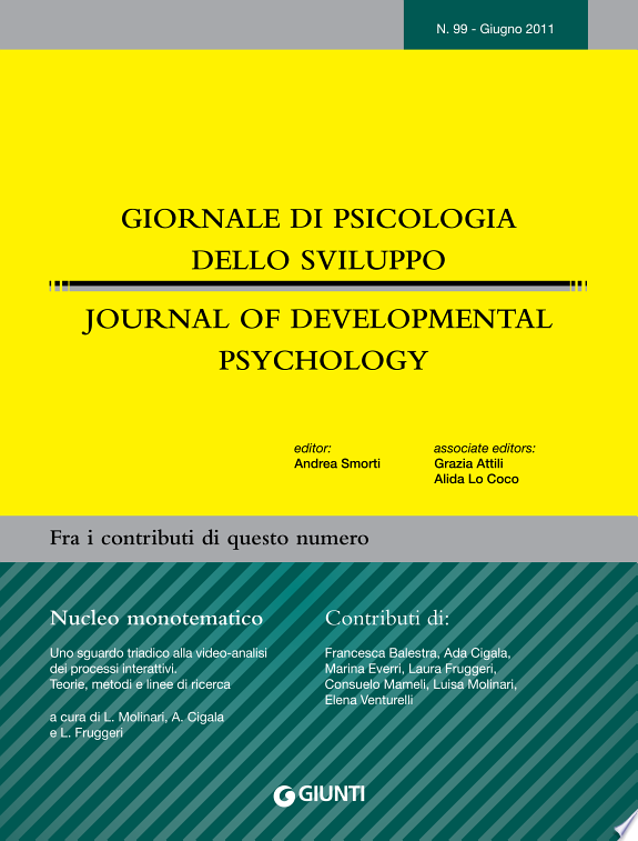 Giornale di Psicologia dello sviluppo - Journal of Developmental Psychology n. 99 - giugno 2011