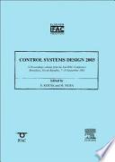 Control Systems Design 2003 (CSD '03)