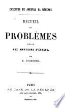Recueil de problèmes dédié aux amateurs d'échecs