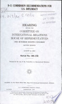 9 11 Commission Recommendations for U S  Diplomacy Book