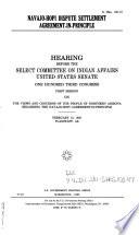 Navajo Hopi Dispute Settlement Agreement in principle