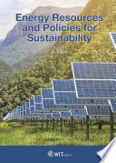 Energy Resources and Policies for Sustainability
