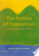 The Politics of Opposition in Contemporary Africa