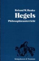 Hegels Philosophieunterricht