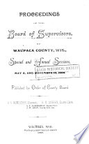 Proceedings Of The Board Of Supervisors Of Waupaca County