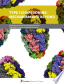 Type I Chaperonins  Mechanism and Beyond Book