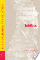 Book cover for JUBILEES the hermeneia translation.