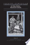 Theatre Symposium  Vol  26 Book