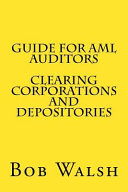 Guide for AML Auditors - Clearing Corporations and Depositories