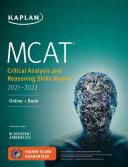 MCAT Critical Analysis and Reasoning Skills Review 2021 2022