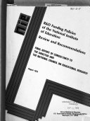 R D Funding Policies of the National Institute of Education