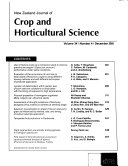 New Zealand Journal of Crop and Horticultural Science