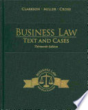 Business Law Text And Cases Book