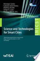 Science and Technologies for Smart Cities