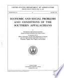 Economic and Social Problems and Conditions of the Southern Appalachians