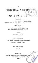 An Historical Account of My Own Life Book