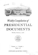 Pdf Weekly Compilation of Presidential Documents