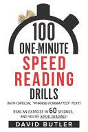 100 One-Minute Speed Reading Drills Pdf/ePub eBook