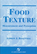 Food Texture  Measurement and Perception Book