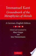 Immanuel Kant Groundwork Of The Metaphysics Of Morals Book PDF