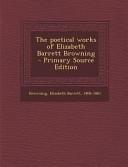 The Poetical Works of Elizabeth Barrett Browning