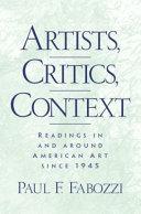 Artists  Critics  Context