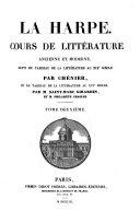 Cours de littérature ancienne et moderne