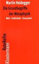 Die Grundbegriffe der Metaphysik