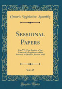 Sessional Papers  Vol  47