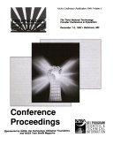 Technology 2002  The Third National Technology Transfer Conference and Exposition  Volume 1