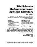 Life Sciences Organizations And Agencies Directory Book PDF