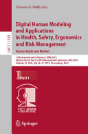 Digital Human Modeling and Applications in Health, Safety, Ergonomics and Risk Management. Human Body and Motion [Pdf/ePub] eBook