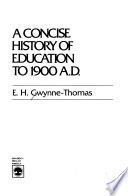 A Concise History of Education to 1900 A.D.