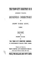 Trow City Directory Co.'s, Formerly Wilson's, Business Directory of New York City