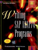 Cover of Writing Sap Abap/4 Programs