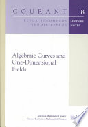 Algebraic Curves and One-Dimensional Fields